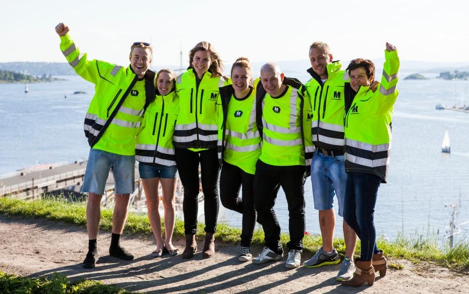 team Jørgen Veiby, Regine Loftaas Valsø, Stina Låstad, Ragnhild Mjønner, Chris Klemmetvold, Fredrik Aalerud og Elisabeth Oven